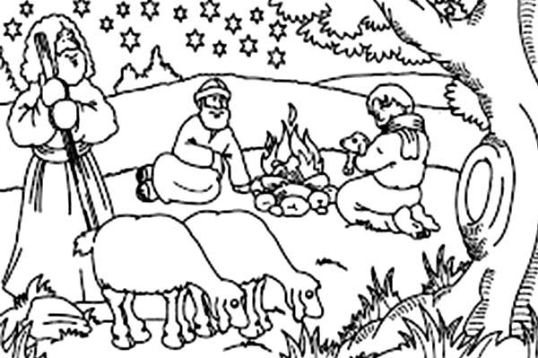 Bible Christmas Story, : The Omen Birth of the Savior Bible Christmas Story Coloring Pages