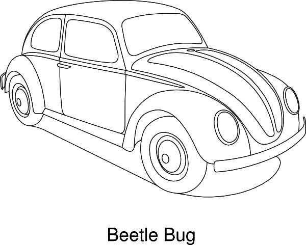 Bug Car Coloring Pages : Vw beetle car coloring page pages