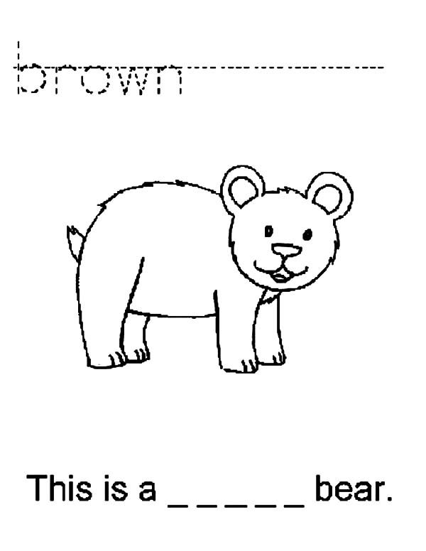 Brown Bear, : This is a Brown Bear Coloring Pages