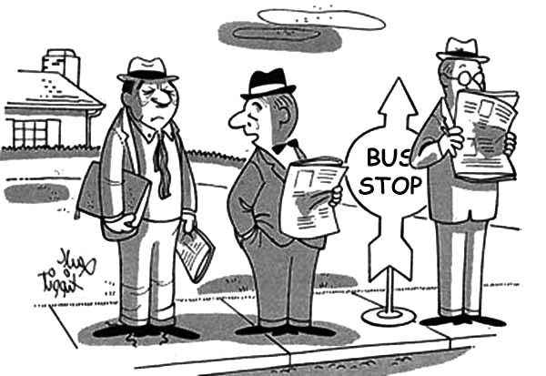 Bus Stop, : Three Business Man Bus Stop Coloring Pages