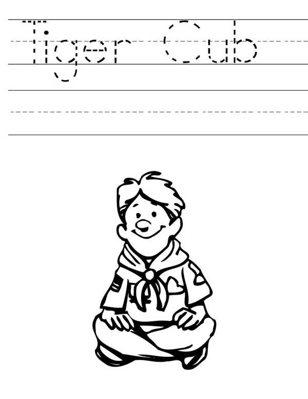 Boy Scouts, : Tiger Cub Boy Scouts Sheet Coloring Pages