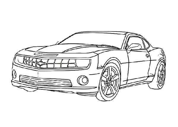 Bumblebee Car, : Transformers Bumblebee Car Coloring Pages
