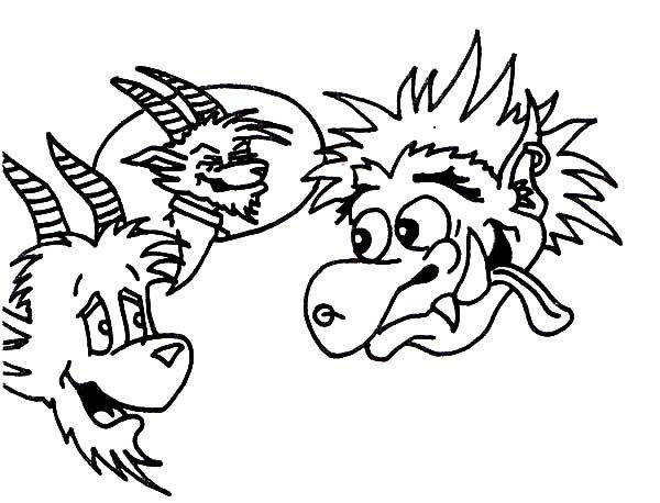 Billy the Goat, : Troll Want to Eat Billy the Goat Coloring Pages