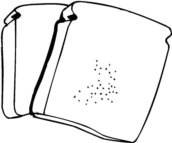 Bread Two Slice Of Coloring Pages