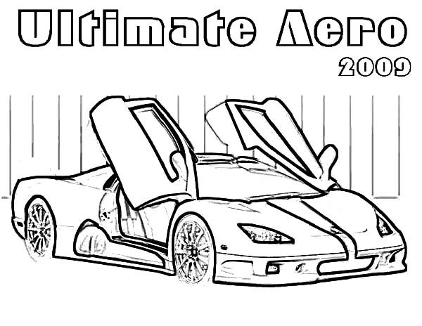 Bugatti Car, : Ultimate Aero 2009 Bugatti Car Coloring Pages