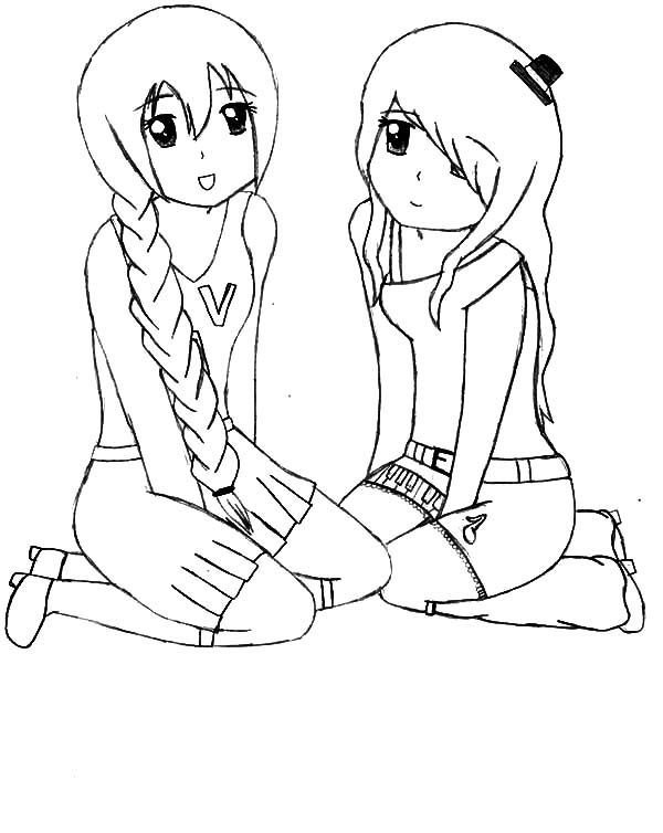 Best Friends, : Utau and Nana Best Friends Coloring Pages