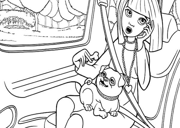 Barbie Thumbelina, : Vanessa Going Vacation in Barbie Thumbelina Coloring Pages