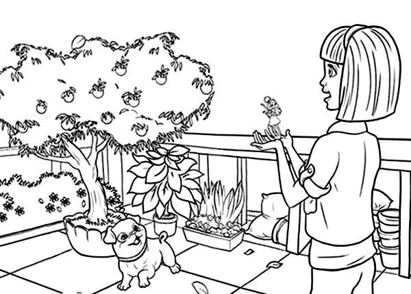 Barbie Thumbelina, : Vanessa Show Barbie Thumbelina Her Orange Tree Coloring Pages