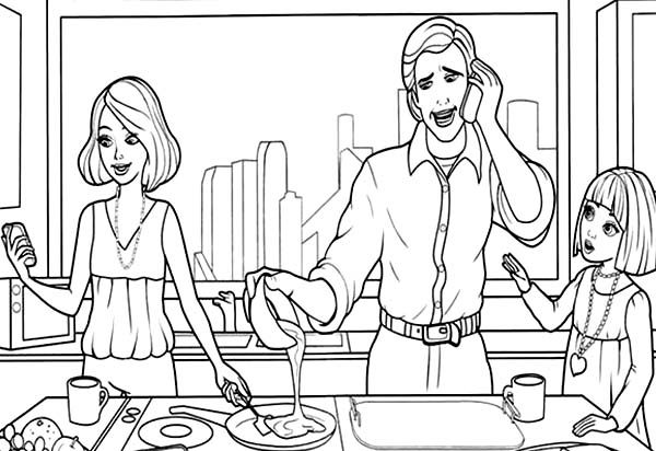 Barbie Thumbelina, : Vanessa Trying to Talk to Her Parents Barbie Thumbelina Coloring Pages