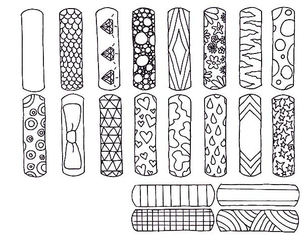 Bookmarks, : Various Design Bookmarks Coloring Pages