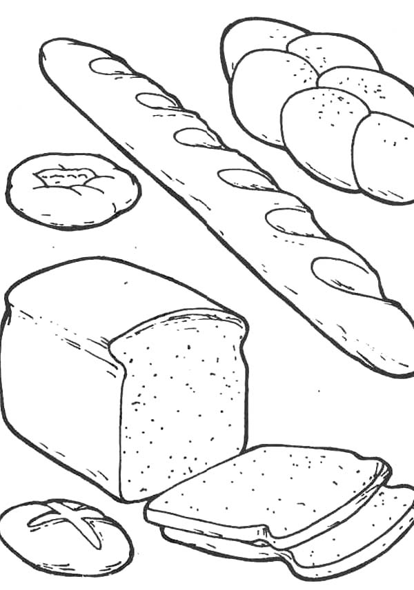 Bread Coloring Pages Pictures Cfxq