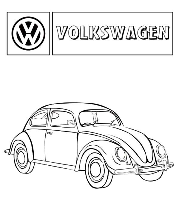 Bug Car Coloring Pages : Volkswagen beetle car coloring pages best place to color