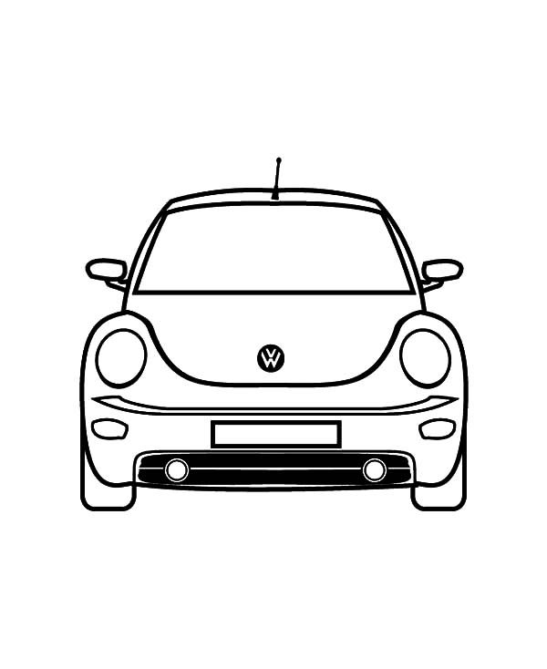 Beetle Car, : Volkswagen New Beetle Car Coloring Pages