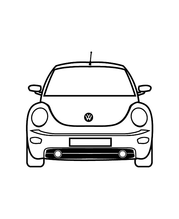 New Car Coloring Pages : Volkswagen new beetle car coloring pages