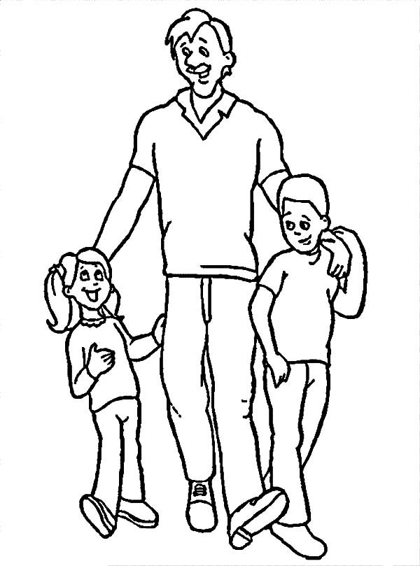 Best Dad, : Warm Conversation with Best Dad Coloring Pages