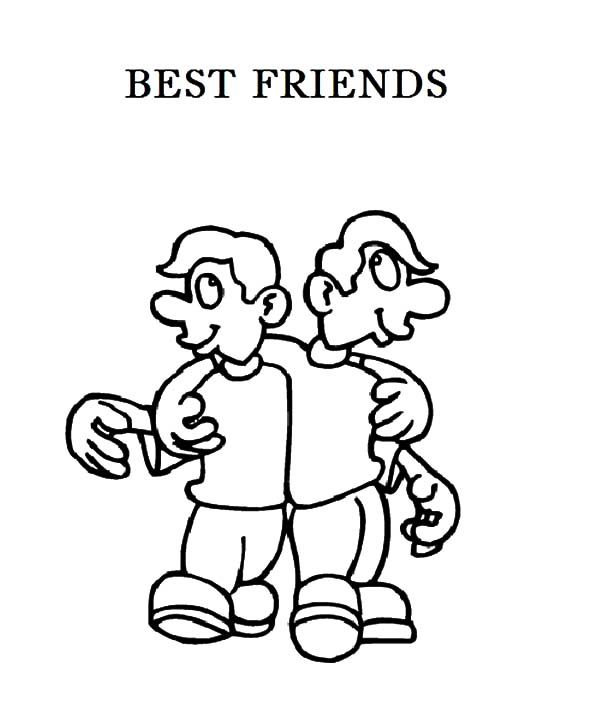 Best Friends, : We Have Got Same Idea Best Friends Coloring Pages