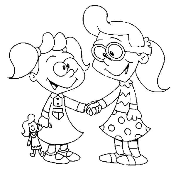 Best Friends, : We are Best Friends Now Coloring Pages