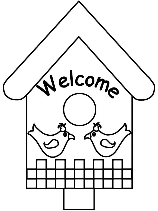 Bird House, : Welcome to Bird House Coloring Pages