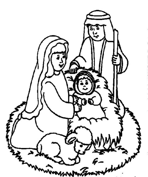Bible Christmas Story, : Welcoming the Savior Bible Christmas Story Coloring Pages