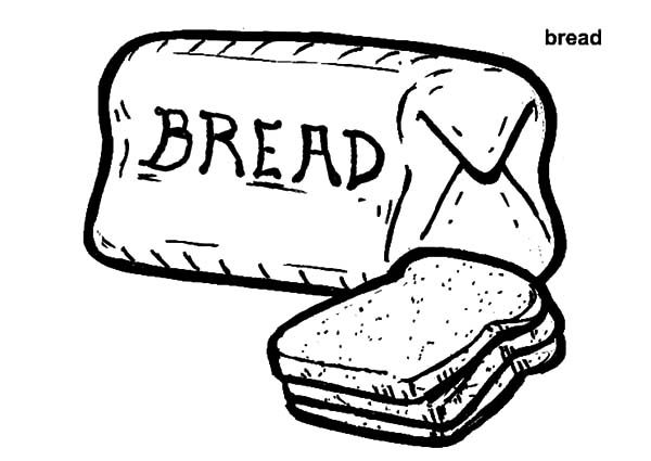 Printable Bread Loaf Sketch Coloring Page