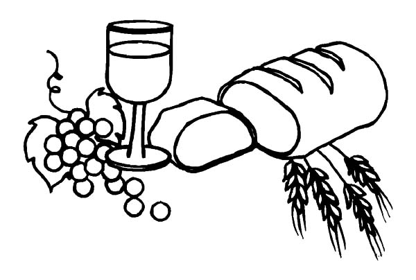 Free Communion Bread Coloring Pages
