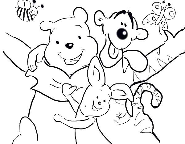 Best Friends, : Winnie the Pooh Best Friends Coloring Pages