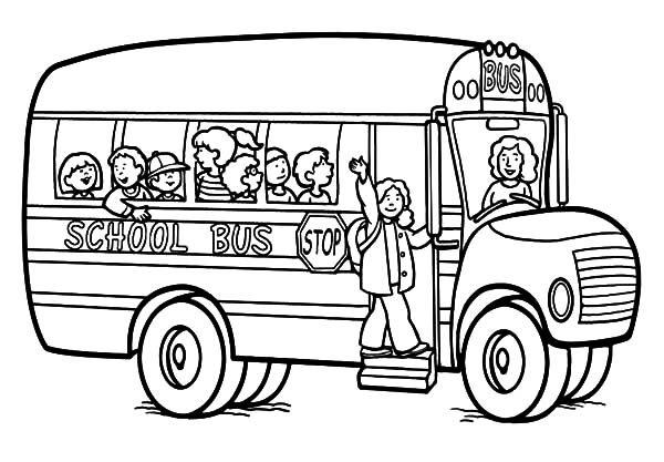 Attractive Woman School Bus Driver Coloring Pages