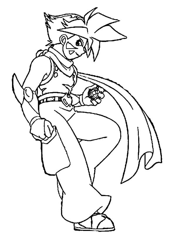 Beyblade, : Zyro Long Scarf Beyblade Coloring Pages