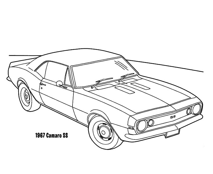 cars 1967 camaro ss coloring pages sketch coloring page