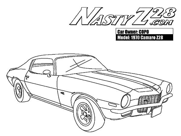 Camaro Cars, : 1970 Camaro Cars Z28 Coloring Pages