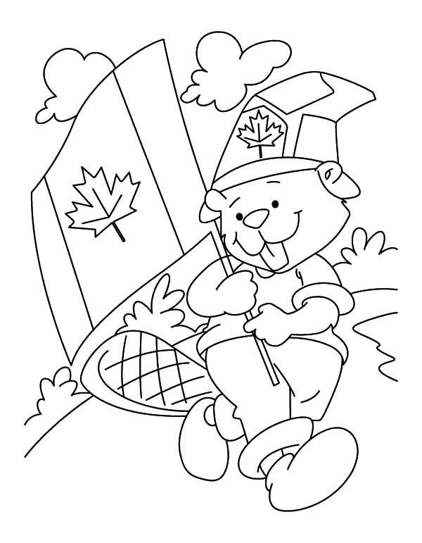 Canada Day, : A Fuzzy Beaver Boyscout on 2015 Canada Day Event Coloring Pages