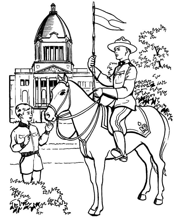 Canada Day, : A Gallant Canadian Horse Guard on 2015 Canada Day Event Coloring Pages