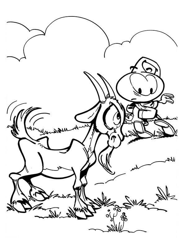 Snorkels, : A Goat is Angry to Allstar in Snorkels Coloring Pages