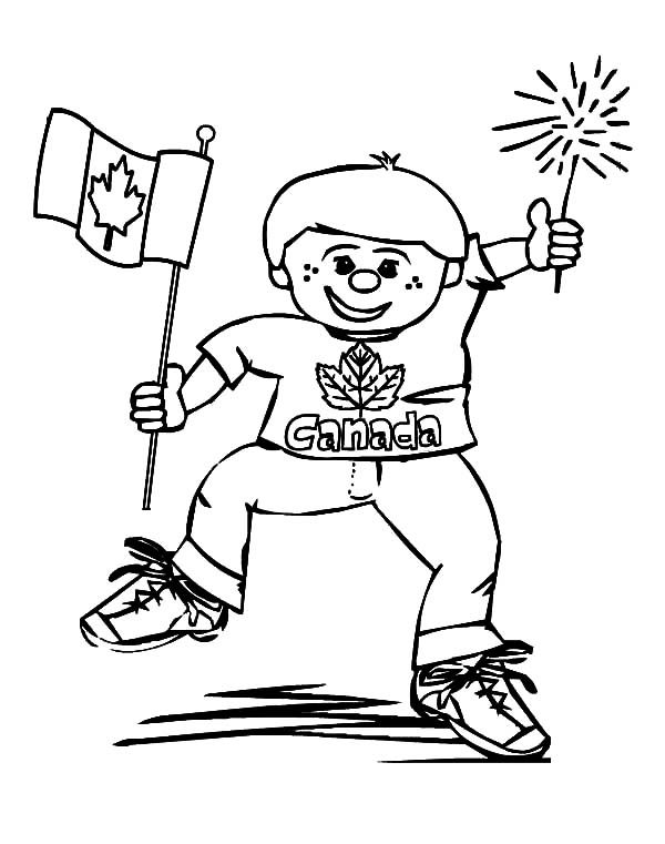 Canada Day, : A Jolly Little Boy on 2015 Canada Day Event Coloring Pages