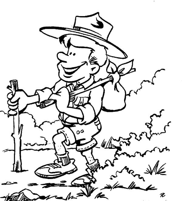 Scouting, : Adventure with Scouting Boy Coloring Pages