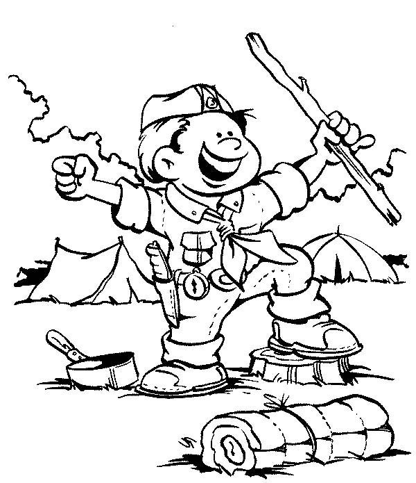 Scouting, : Amazing Scouting Activity Coloring Pages