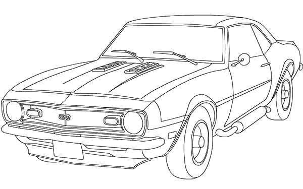 Camaro Cars, : An Antique Camaro Cars Coloring Pages