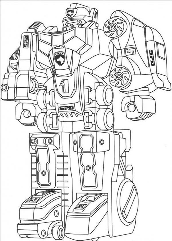 Robots, : Assemble Fighting Robot Coloring Pages