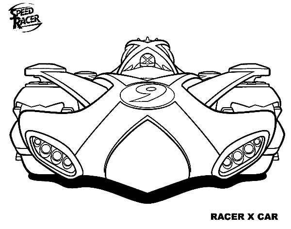 Speed Racer, : Awesome Racer X Car of Speed Racer Coloring Pages