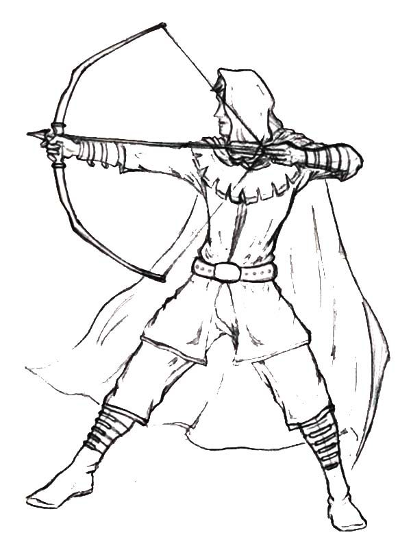 Robin Hood, : Awesome Robin Hood Coloring Pages