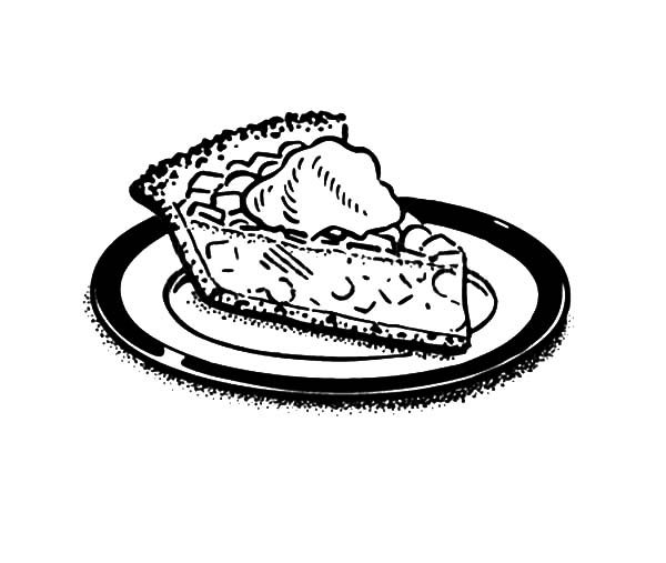 Cake Slice, : Beautiful Cake Slice Coloring Pages