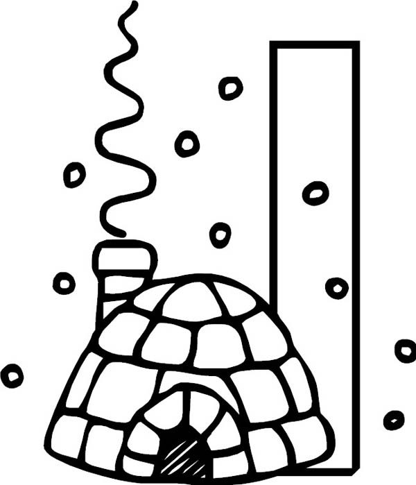 Letter I, : Big Letter I for Igloo Coloring Page