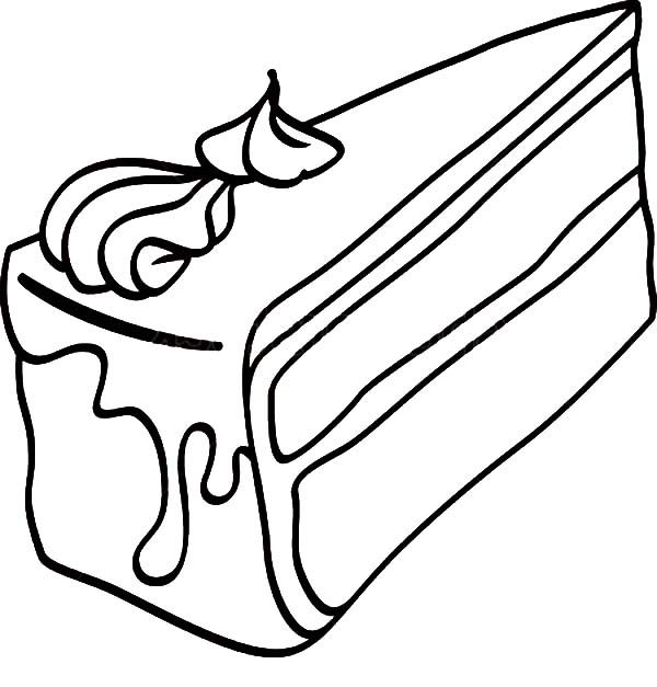 Black Forest Cake Slice Coloring Pages | Best Place to Color