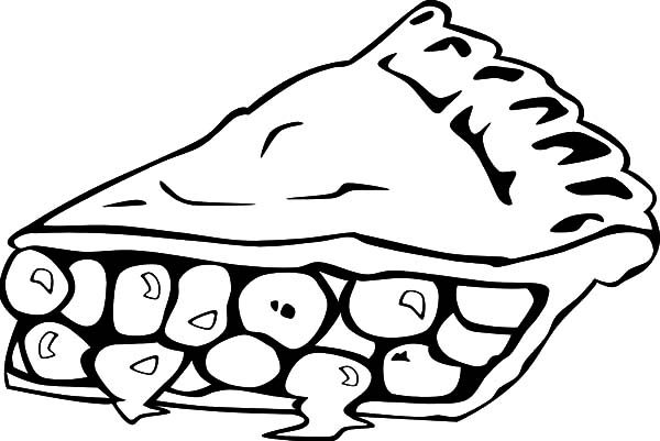 Cake Slice, : Blueberry Cake Slice Coloring Pages