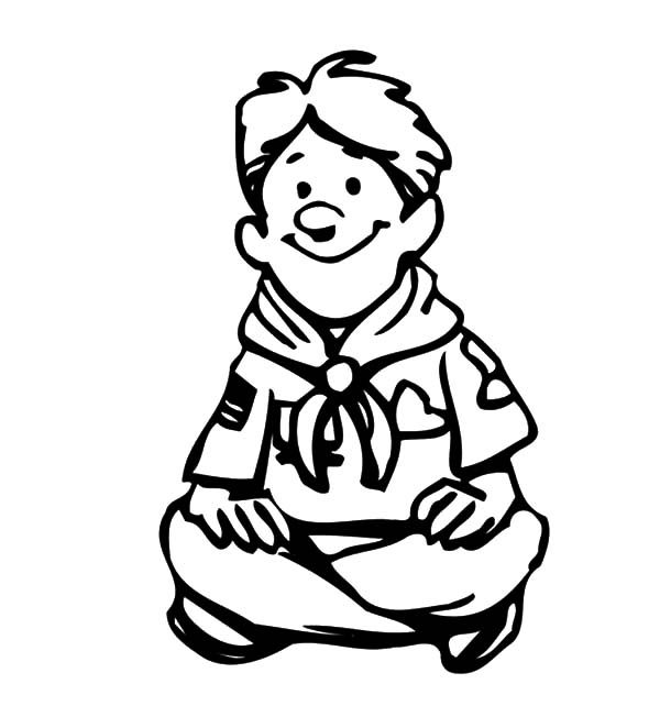 Scouting, : Boy Scout in Scouting Coloring Pages