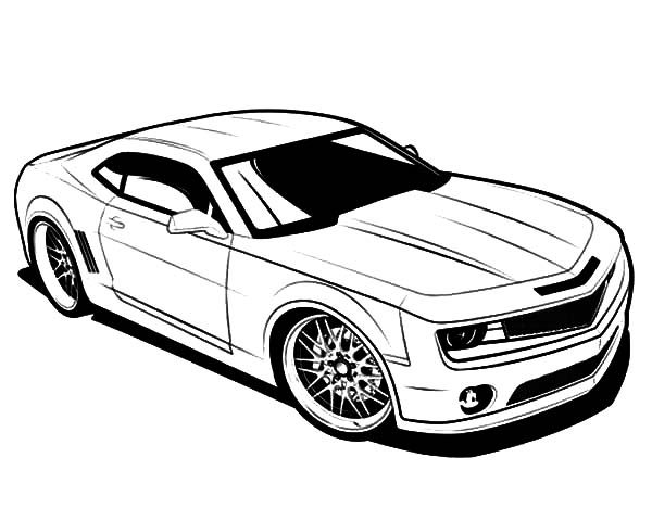Camaro Cars, : Bumble Bee Camaro Cars Coloring Pages