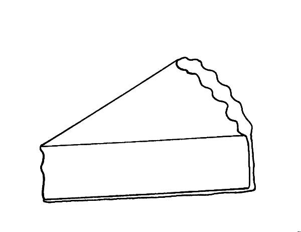 Cake Slice, : Cake Slice Picture Coloring Pages
