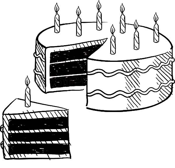 Cake Slice, : Cake Slice for All My Friends Coloring Pages