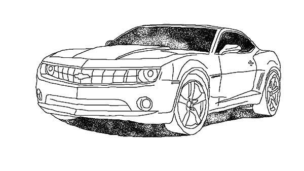 Camaro Cars, : Camaro Cars on the Street Coloring Pages