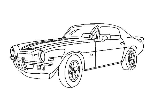 Camaro Cars, : Camaro Cars with NOS Coloring Pages